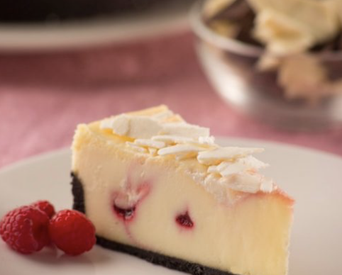 cheesecake white chocolate raspberry